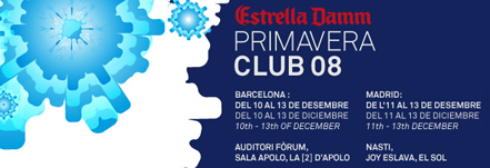 Primavera Club 2008: cartel