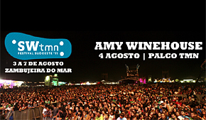 Photo of Amy Winehouse al Festival Sudoeste TMN 2011