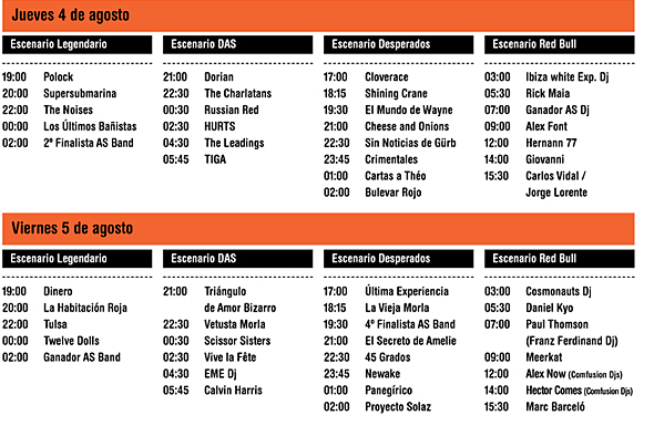 Photo of Arenal Sound 2011: horarios