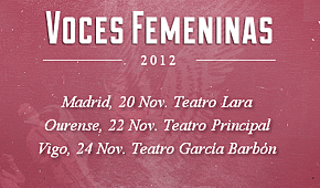 Voces femeninas 2012: cartel