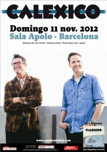 Calexico sala apolo barcelona 11 11 2012 for Sala apolo barcelona