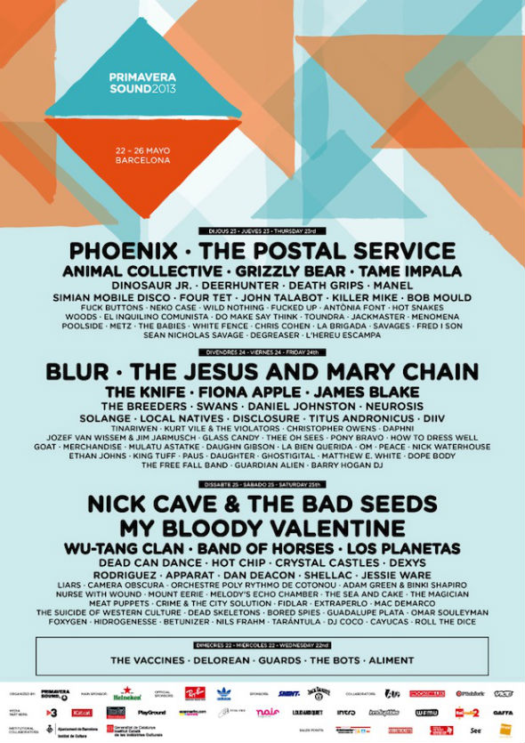 Photo of Heineken Primavera Sound 2013: cartel