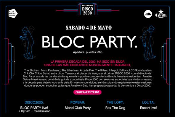 Photo of Bloc Party inaugurarán el 4 de mayo 'Disco 2000', el nuevo ciclo de Razzmatazz