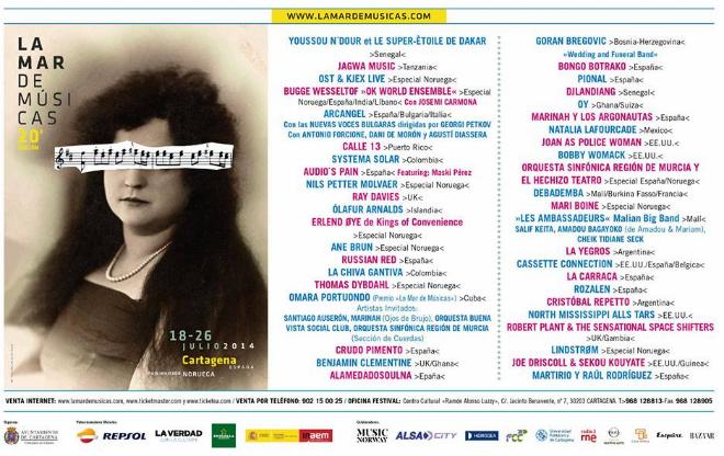 cartel la mar de musicas 2014