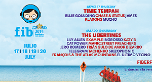 Photo of The Libertines al FIB 2014. Cartel provisional por días