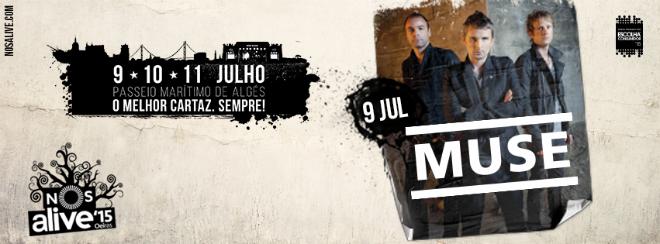 Photo of Muse, cabeza de cartel en NOS Alive 2015