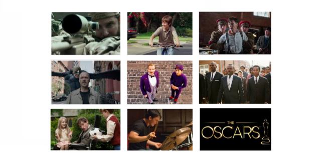 Los nominados al Oscar 2015