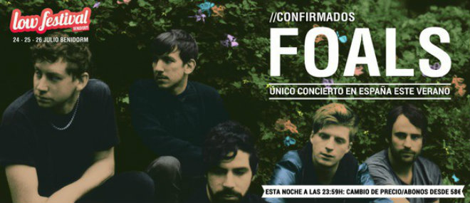 Photo of Foals, tercer cabeza de cartel de Low Festival 2015
