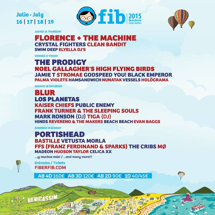 Photo of Cartel del FIB 2015 por días