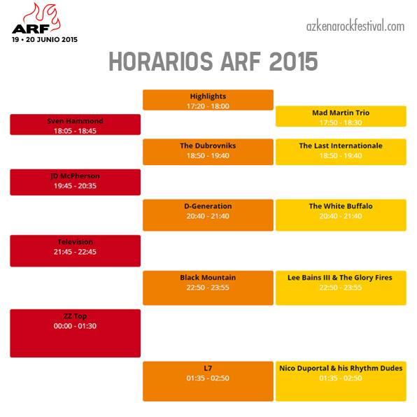 Photo of Azkena Rock 2015: horarios