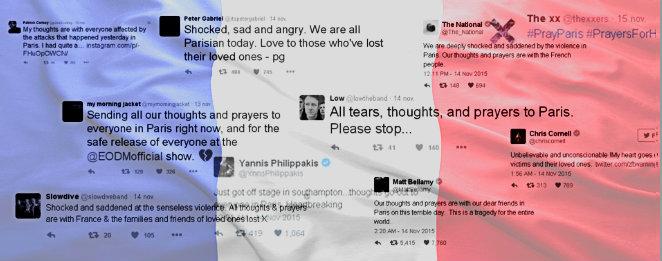 Photo of Los músicos expresan su apoyo a París tras los atentados