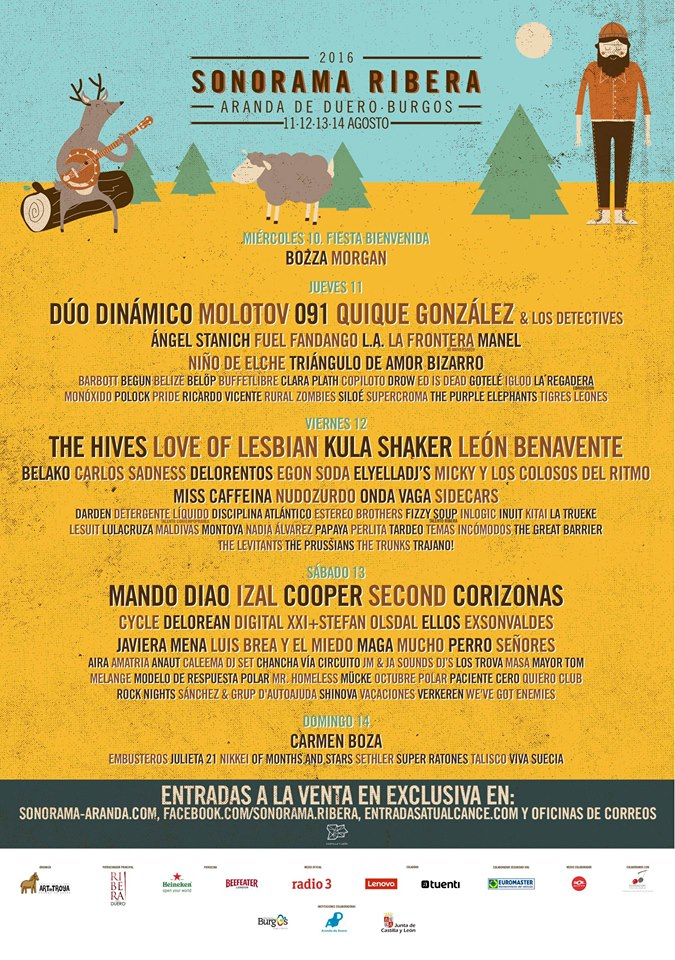 Photo of Cartel por días de Sonorama 2016