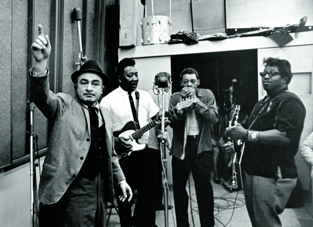 Phil Chess, izda, Muddy Waters, Little Walter y Bo Diddley