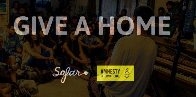Give a Home, más de 300 conciertos por los refugiados